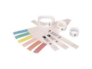 Zebra 10006995K-EA Adult, 1 X 11 White DT Wristbands, Per Cartridge