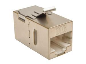 Tripp Lite Cat6a Straight-Through Modular Shielded In-Line Snap-In Coupler (RJ45 F/F)