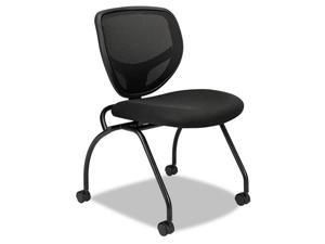 HON VL302 Series Mesh Back Nesting Chair Black 2/Carton BSXVL302MM10