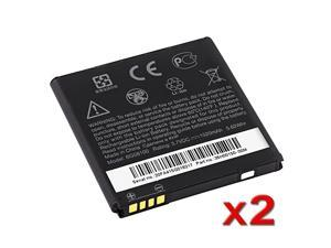 2X HTC MyTouch 4G Slide / Z710e / Sensation 4G / Pyramid Standard OEM Original Battery BG58100 / 35H00150