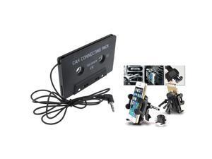 eForCity Black Universal Car Air Vent Phone Holder + Black Universal Car Audio Cassette Adapter For iPhone 5 5G 5th 3 G 3GS 3rd