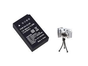 eForCity Black Li-ion Battery + Black Mini Retractable Tripod Bundle Compatible With Nikon 1 J1