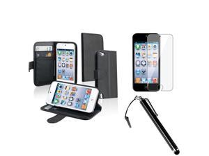 Apple iPod Touch 5th Generation Accessories Bundle Kit - Stylus, Wallet Case,  Reusable Screen Protector