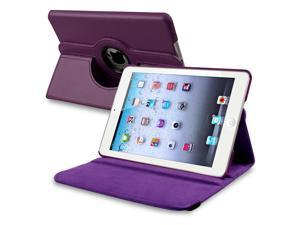 eForCity 360-degree Swivel Leather Case Cover for Apple iPad Mini 1/ 2/ 3 - Purple