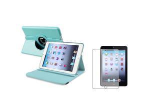 eForCity Light Blue 360 Rotating Leather Case+ Anti-Glare Screen Protector for Apple  iPad Mini 1 / Apple iPad Mini 2 / iPad Mini with Retina Display (iPad Mini 3)