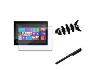 eForCity LCD Screen Film + Black Pen Compatible With Microsoft Surface Pro 10.6 Windows 8 + Fishbone Wrap