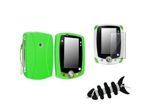 eForCity Green Case Cover + LCD Screen Film Guard Compatible With LPF Leappad 2 Explorer + Fishbone Wrap