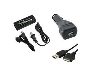For Sony PSPGo AC Home Power+DC Car Charger+USB Data Sync Charging Cable Cord