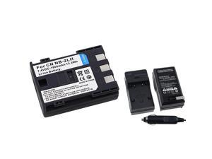 eForCity NB-2Lh Battery + Charger Compatible With Canon Eos Digital Rebel Xt