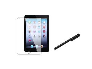 eForCity Black Universal Touch Screen Stylus+4X Reusable Screen Protector Compatible With Apple iPad Mini 1 / Apple iPad Mini 2 / iPad Mini with Retina Display (iPad Mini 3)