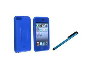 eForCity Blue Silicone Skin Case+Blue Universal Touch Screen Stylus Compatible With Apple® iPod Touch 1st Generation, 2nd ...
