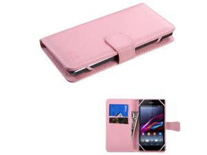 eForCity Leather Wallet Case with Card Slot For iPhone 6 6S / HTC Desire 510 610 / Moto G X 2nd Gen / Nokia Lumia 610 / Samsung Galaxy S5 S4 S3 Avant / Alcatel One Touch Fierce / LG G3 G2  Pink