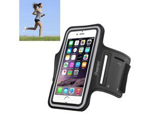 eForCity Running Jogging Sports Fitness Workout GymArmband Sportband Case w/ Key Holder for Apple iPhone 6 / Samsung Galaxy S6 / S6 Edge, Black