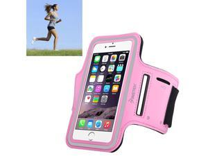 eForCity Running Jogging Sports Fitness Workout GymArmband Sportband Case w/ Key Holder for Apple iPhone 6 / Samsung Galaxy S6 / S6 Edge, Pink