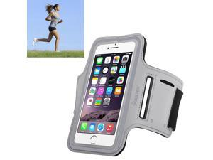 eForCity Running Jogging Sports Fitness Workout GymArmband Sportband Case w/ Key Holder for Apple iPhone 6 / Samsung Galaxy S6 / S6 Edge, Silver