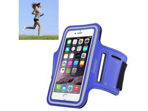 eForCity Running Jogging Sports Fitness Workout GymArmband Sportband Case w/ Key Holder for Apple iPhone 6 / Samsung Galaxy S6 / S6 Edge, Blue