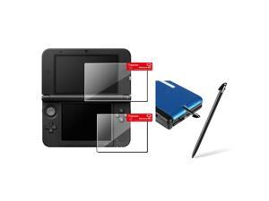 eForCity 4 x Clear Top + Bottom Screen Protector 2-LCD + Black Pen Compatible With Nintendo 3DS XL N3DS