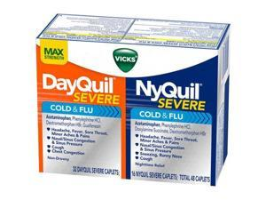 McCormickVicks DayQuil or NyQuil Severe Cold and Flu Caplets Combo Pack, 48 count