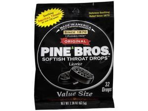 Pine Bros. Softish Throat Drops Value Pack, Licorice 32 ea