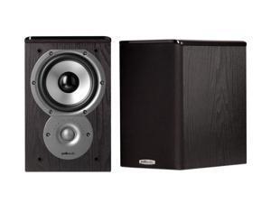"""Polk Audio TSi100 2-Way Bookshelf Speaker with 5-1/4"""" Driver - Pair (Black)"""