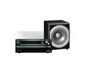 """Onkyo TX-NR646 7.2-Channel Network AV Receiver with Infinity Primus PS410 10"""" 300W Powered Subwoofer"""