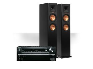 Onkyo TX-NR646 7.2-Channel Network AV Receiver with Klipsch RP-250F Reference Premiere Floorstanding Speakers (Ebony)