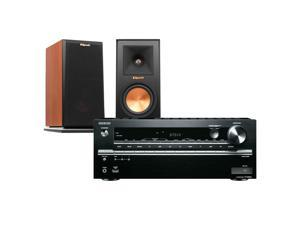 Onkyo TX-NR646 7.2-Channel Network AV Receiver with Klipsch RP-150M Reference Premiere Monitor Speakers (Cherry)