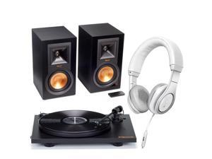 Klipsch R-15PM Powered Monitor Speakers and Pro-Ject Primary Turntable Package with FREE Klipsch Reference On-Ear Headph