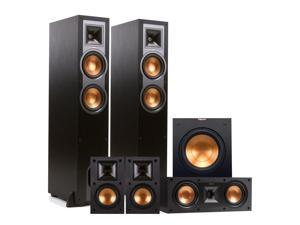 "Klipsch R-26F 5.1 Reference Floorstanding Speaker Package with 10"" Powered Subwoofer (Black)"