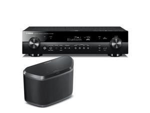 Yamaha RX-S601 Slimline AV Network Receiver with WX-030 MusicCast Wireless Speaker (Black)