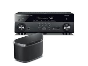 Yamaha RX-A660 AVENTAGE 7.2 Channel Network AV Receiver with WX-030 MusicCast Wireless Speaker (Black)