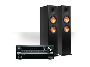 Onkyo TX-NR646 7.2-Channel Network AV Receiver with Klipsch RP-280F Reference Premiere Floorstanding Speakers (Ebony)