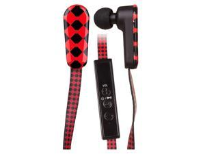QFX H-150BT Bluetooth Stereo Sports Earbuds with Microphone and In-Line Controls (Black/Red)