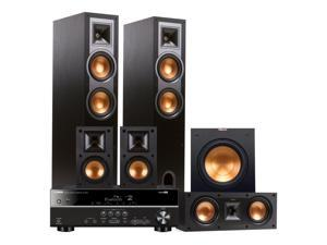 Yamaha RX-V381 5.1-Channel AV Receiver with Klipsch R-26F 5.1 Reference Floorstanding Speaker Package (Black)