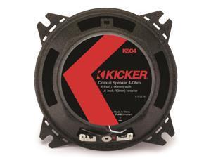 "Kicker 41KSC44 4"" 2-Way Coaxial Speaker - Pair (Black)"