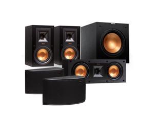 "Klipsch Reference 5.1 Channel R-15M Surround Sound Speaker Bundle with 10"" Subwoofer (Black)"