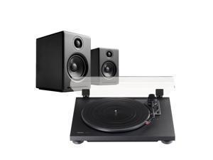 TEAC TN-100 Turntable and Audioengine A2+ Powered Speaker Package (Black)