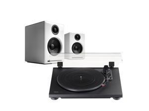 TEAC TN-100 Turntable and Audioengine A2+ Powered Speaker Package (Black/White)