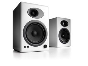 Audioengine A5+ Premium Powered Bookshelf Speakers - Pair (White)
