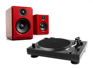 Music Hall USB-1 Turntable with USB Output Turntable Package With Pair of Audioengine A2+ Premium Powered Desktop Speake
