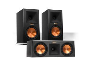 Klipsch RP-160M Reference Premiere Monitor Speakers Pair with RP-250C Center Channel Speaker (Ebony)