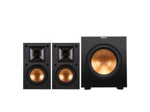 "Klipsch R-14M Reference Monitor Speakers with R-10SW 10"" Powered Subwoofer (Black)"