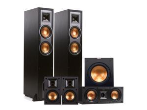 "Klipsch R-26F 5.1 Reference Floorstanding Speaker Package with 10"" Powered Subwoofer (Black)"