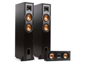 Klipsch R-26F Reference Floorstanding Speakers with R-25C Center Speaker (Black)
