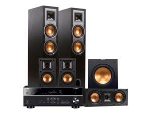 Yamaha RX-V481 5.1-Channel AV Receiver with Klipsch R-26F 5.1 Reference Floorstanding Speaker Package (Black)