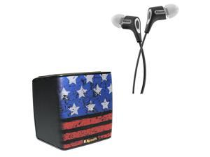 Klipsch Groove Limited Edition Loud and Proud Portable Bluetooth Speaker (Americana) and R6 In-Ear Headphones (Black)