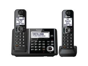 Panasonic KX-TGF342B DECT 6.0 1.9 GHz Expandable Digital Cordless Phone (2 Handsets)