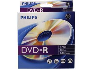 PHILIPS DM4S6B10B/17 4.7GB 16x DVD-Rs, 10-ct Peggable Box