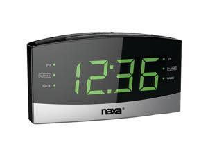 NAXA NRC-181 Bluetooth(R) Easy-Read Dual-Alarm Clock with Daily Repeat