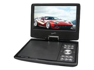 """Supersonic SC-259A 9"""" Portable DVD Player with Digital TV & Swivel Display"""